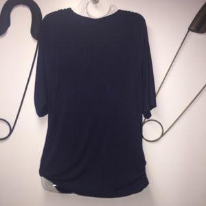 cc047cb8894e08 IN VOLAND Tops - IN VOLAND Plus Size Women V Neck Wrap Front Drape
